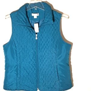 Christopher & Banks Teal Vest
